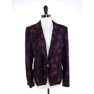 White House Black Market Rose Jacquard Blazer